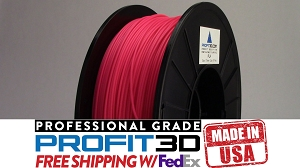 Fluorescent Pink PLA Filament 1.75mm 1kg